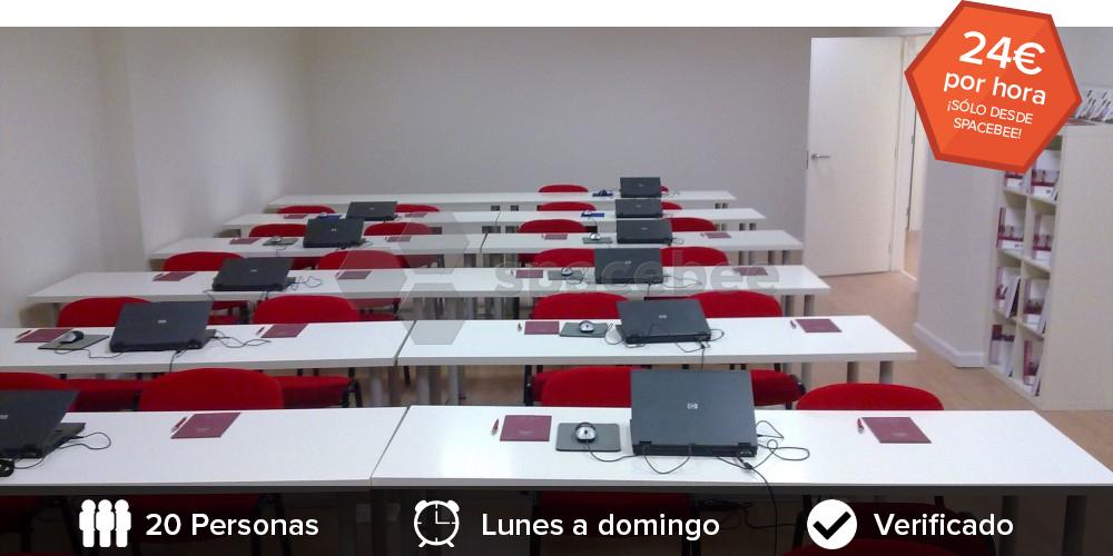 Alquiler aula cursos madrid