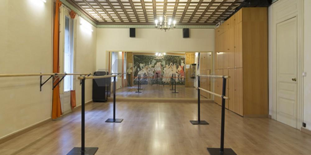 Sala especial para danza, teatro, artes marciales...