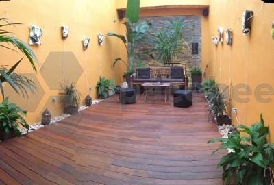 Espacio patio semi cubierto + ante sala - 27 m2